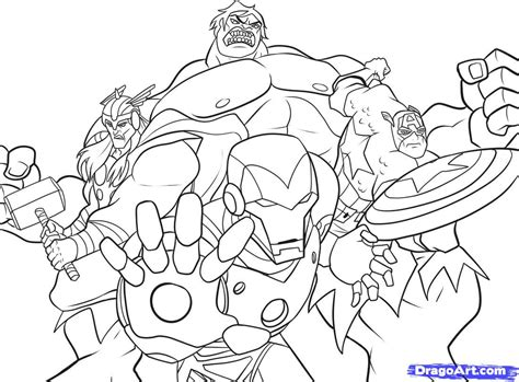 How To Draw The Avengers Step By Step Marvel Characters Marvel Characters Coloring Pages
