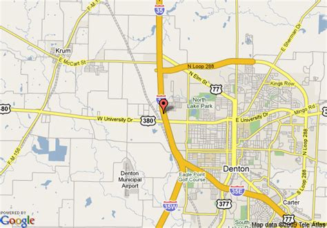 map denton texas map of travelodge denton denton