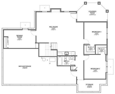 Santa Fe Style House Plans by Santa Fe Style Home With Walkout Floor Plan Evstudio