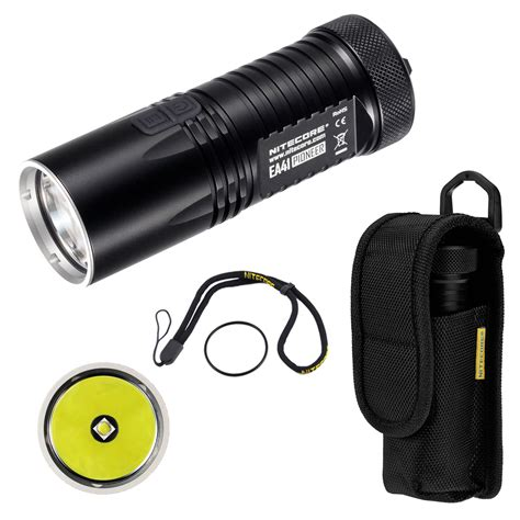 Nitecore Ea41 Explorer Series Led Cree Xm L2 U2 1020 Lumens nitecore 960 lumens ea41 pioneer tactical searchlight cree xm l2 led flashlight ebay
