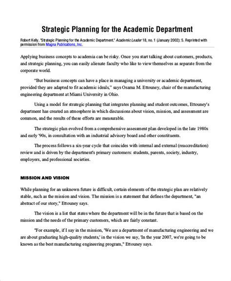49 Exles Of Strategic Plans Department Strategic Plan Template