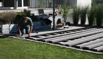 wpc terrasse verlegen wpc terrassen verlegung wooden tec schweiz