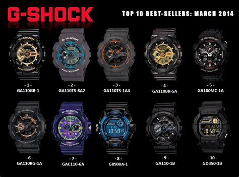 best g shocks top ten selling g shocks for march 2014