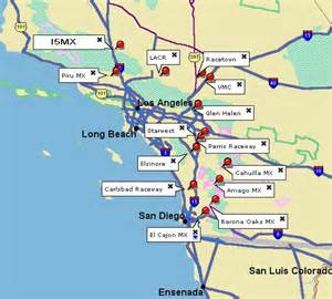 california motocross tracks map southern california mx tracks