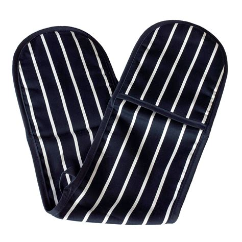 Top Quality Duvet Covers All My Linen Buy Blue Butchers Stripe Double Oven Gloves