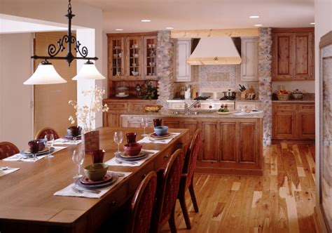 rustic open floor plans rustic kitchens kitchens com