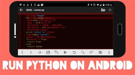 python android how to run python on android