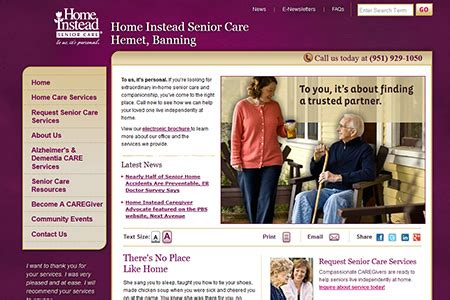 home instead senior care hemet treats caregivers