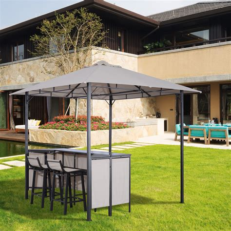 3pc patio set 3pc outdoor patio bar table set chairs w sunshade canopy backyard furniture last reviews