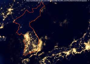 map of lights korea map lights