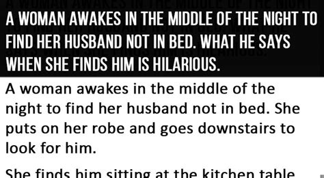 how to dominate your man in bed she didn t find her husband in bed what he says when she
