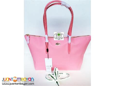 L Coste Shopper Bag 11207 Tas Wanita Tote Canvas Waterproof lacoste shoulder bag lacoste tote bag pink taytay shop go