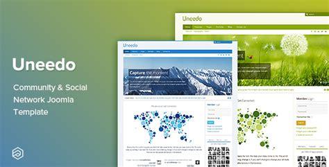 template joomla community uneedo community social network responsive joomla