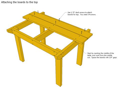 Wood Patio Table Plans by Patio Table Plans