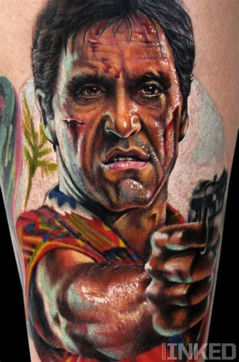 scarface tattoos stefano alcantara tattooed this iconic image of tony