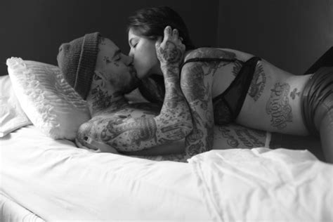 tattoo couple kissing i swear this time i mean it