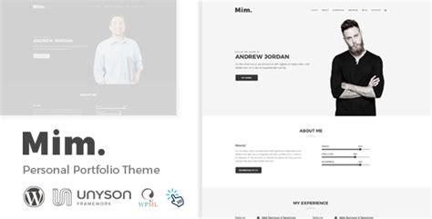 Mim Personal Portfolio Wordpress Theme By Regaltheme Themeforest Personal Portfolio Template Free