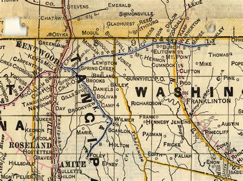 kentwood louisiana map kentwood eastern railway la map showing route in 1914