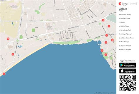 antalya map tourist attractions antalya printable tourist map sygic travel
