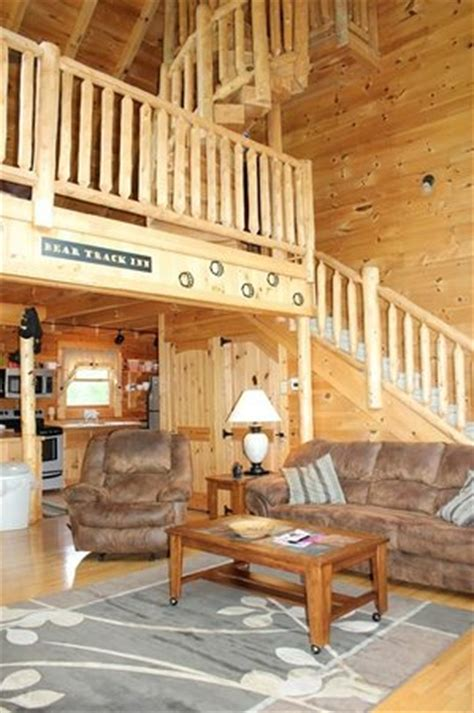 S Cove Log Cabin Rentals by 3 Level Cabin Top Level Accessible Via Steep Spiral