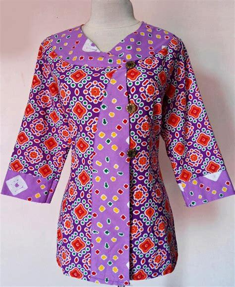 desain baju batik atasan wanita gambar baju batik kerja auto design tech