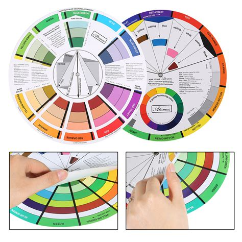 color selection portable pocket color wheel painting mixing guide tool for