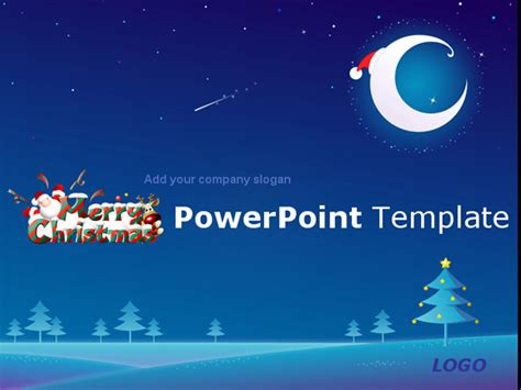 powerpoint layout weihnachten blue christmas eve download powerpoint templates free
