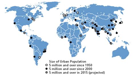 world map largest cities earth habitat a summary of global environmental