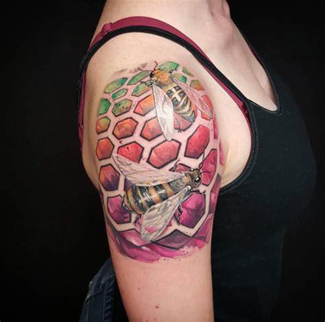 honeycomb tattoo designs 40 buzzin bee designs and ideas tattooblend