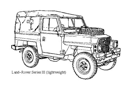 land rover drawing army light weight land rover