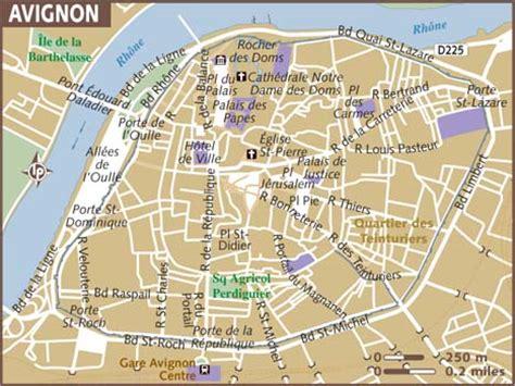 map of avignon map of avignon