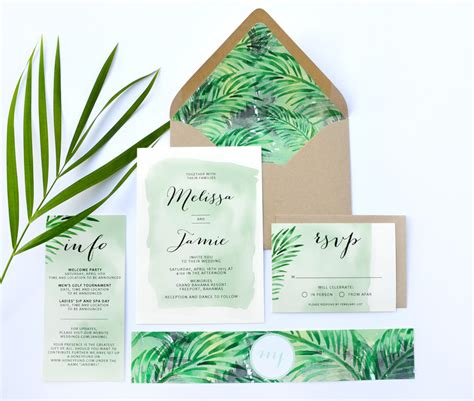 Tropical Wedding Invitations by Tropical Wedding Invitations Tropical Wedding