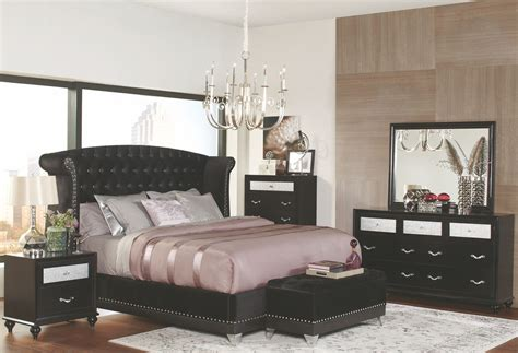 platform bedroom furniture barzini black upholstered upholstered platform bedroom set from coaster coleman furniture