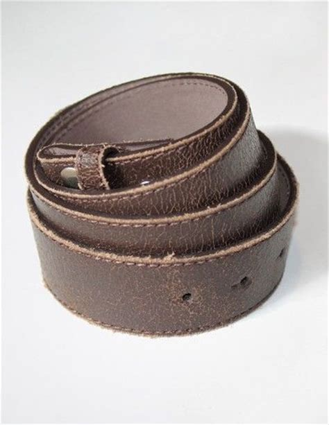 brown distressed leather belt by dang