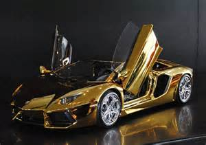 Where Is A Lamborghini Made 7 500 000 Gold Lamborghini Aventador Lp 700 4 By Robert