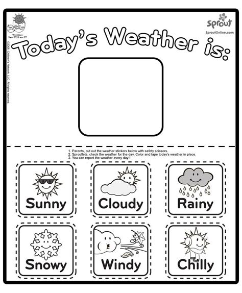 coloring pages sunny weather weather coloring chart kids crafts pinterest weather