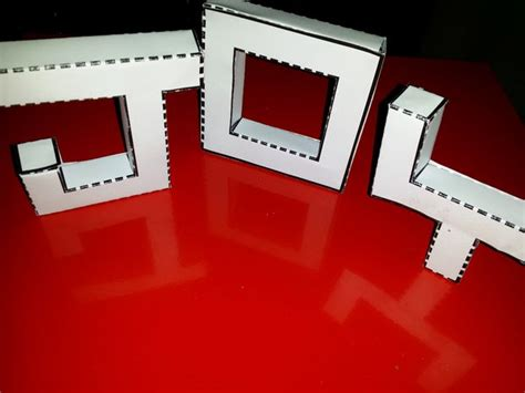 Papercraft Letters - 3d letters in papercraft easy to make