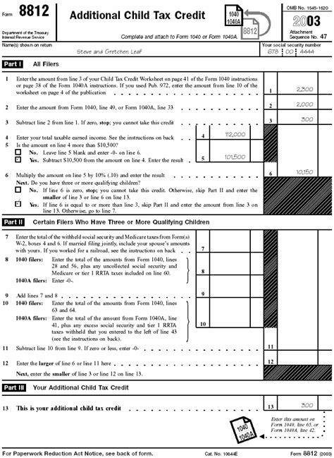 Additional Child Tax Credit Worksheet by Publication 972 Child Tax Credit Publication 972