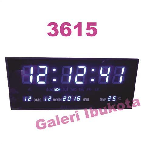 Jam Digital Led Dindingmeja Jh 828 Hijau jual beli jam dinding digital led jh 3615 biru hijau