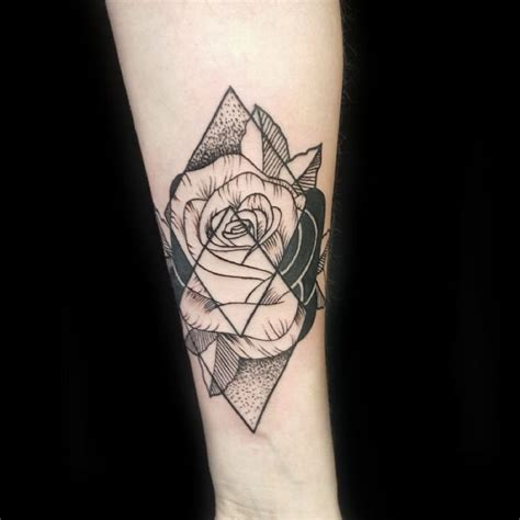 geometric rose tattoo geometric georgina may primitive