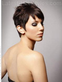pixie haircut with height at crown short hairstyles back view length asymmetrical pixie