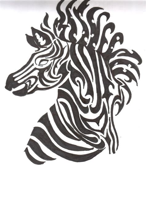tribal zebra tattoo tribal zebra zebra tribal tattoos