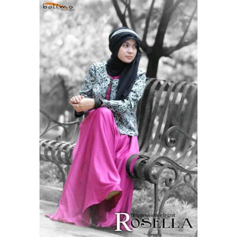 Gamis Syar I Velvet b rosella mag c htm baju muslim gamis modern