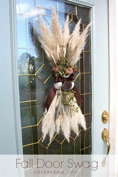 swags for front door fall door swag sand and sisal