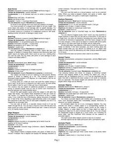 pathfinder spell templates pathfinder command spell