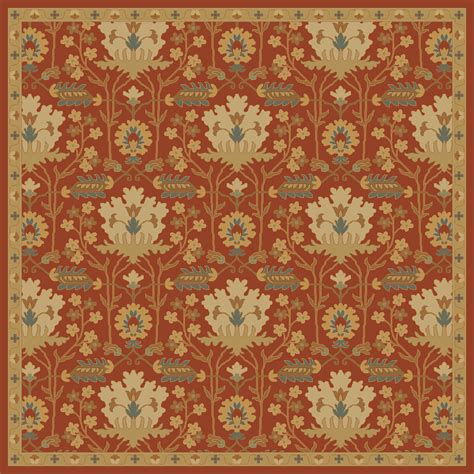 Square Area Rugs 8x8 Caesar Burgundy Olive Wool Square Area Rug 8x8 The Home