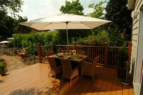 wood deck vs concrete patio modern patio outdoor