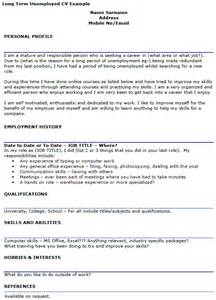 long term unemployed cv example icover org uk
