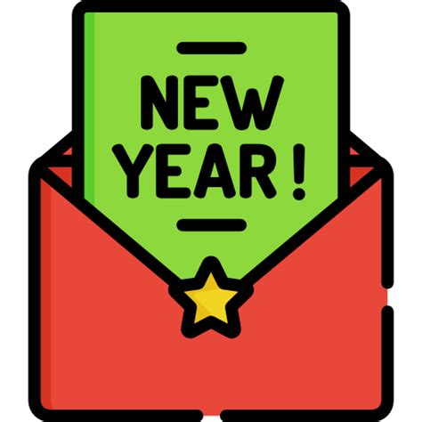 new year icon free new year card free communications icons