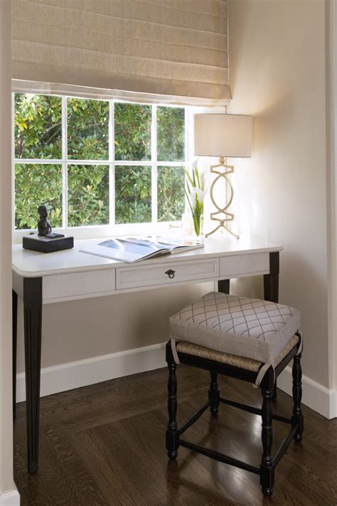 desk in front of window create a charming working nook in bedroom with a small